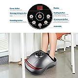 INTEY Fußmassagegerät Shiatsu elektrisches Fussmassagegerät mit Wärmefunktion, Kneten, Roller und Luftkompression, 5 Intensitätsstufen, 2 Modi, Timer, Entspannung für Zuhause/Büro in der Anwendung