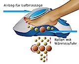 Fuss-fit-Maxx Fussmassagegerät - Wellness Oase - Fußreflexzonen Massagegerät - mit 3D-Luftmassagetechnik und zuschaltbarer Wärmefunktion - 7